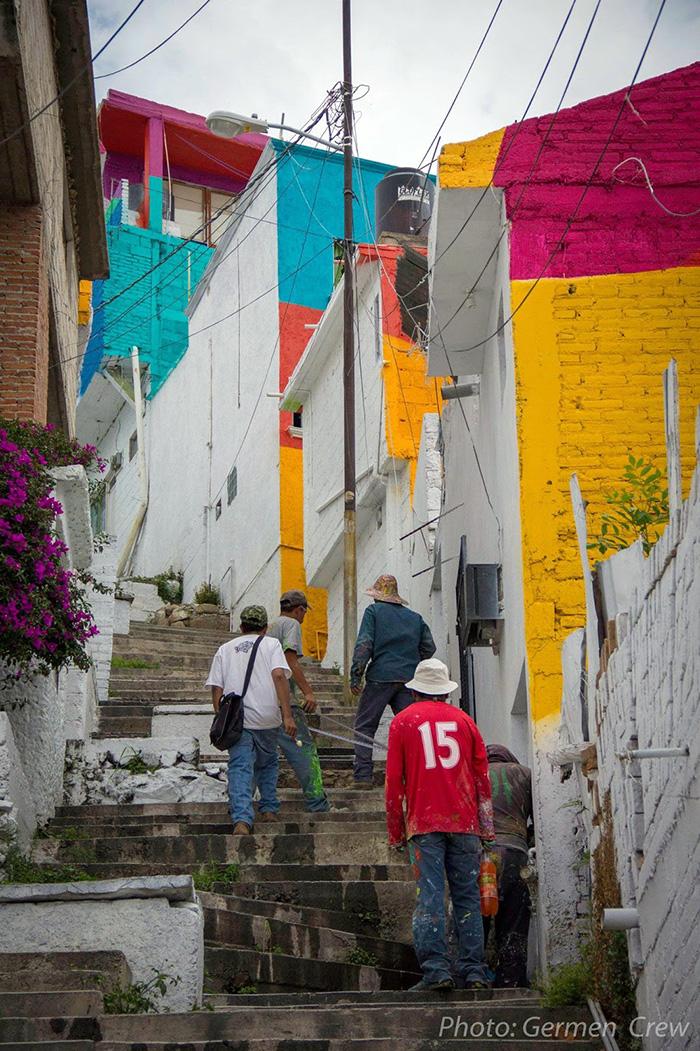 Pueblo-con-casas-pintadas-de-colores-Mexico-Turistas