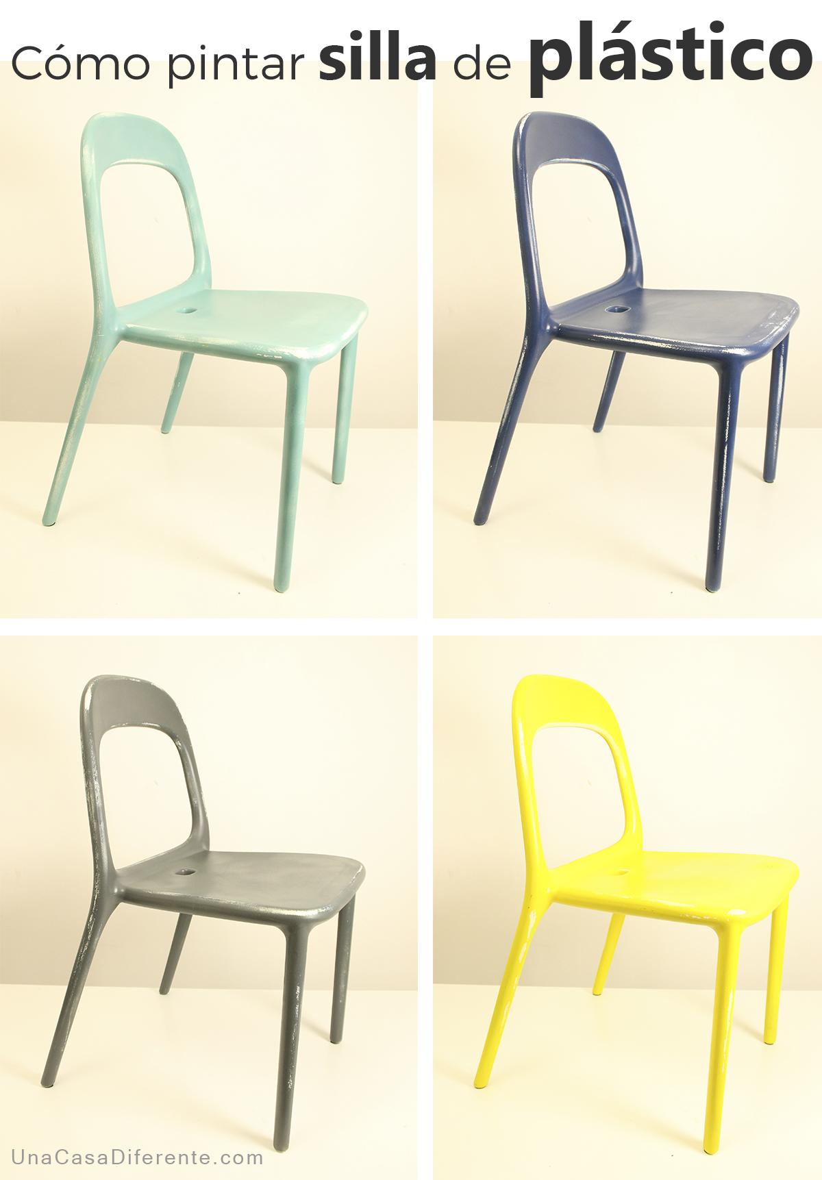 C mo pintar sillas de pl stico una casa diferente - Mesas y sillas de ikea ...