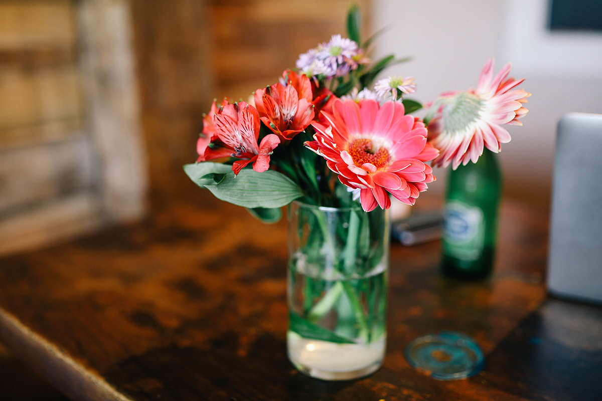 Flores en botes de cristal Jar flowers 2