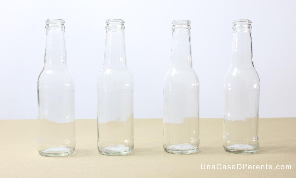 C mo quitar etiquetas de botellas de vidrio una casa diferente - Vidrio plastico transparente precio ...