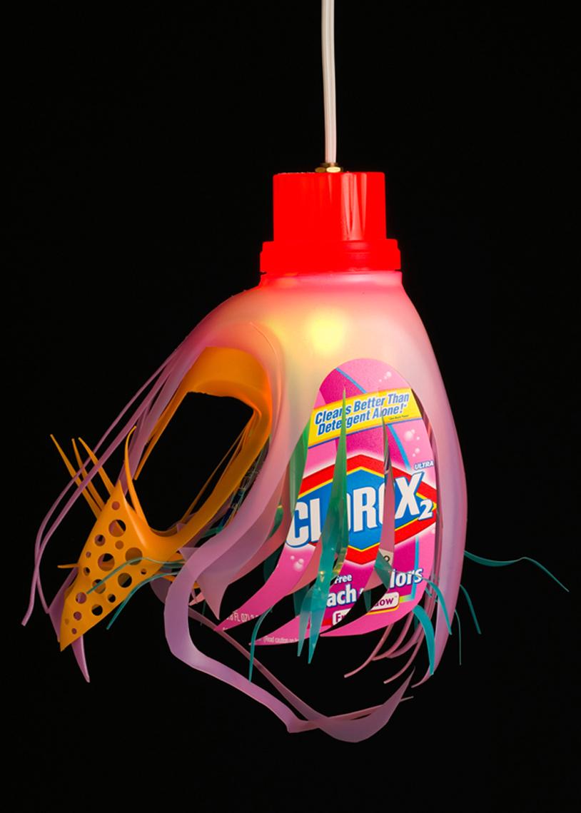 Lampara con botellas plastico plastic bottle lamp 5