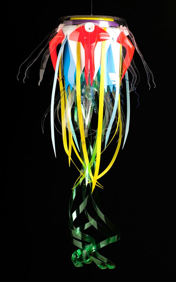 Lampara con botellas plastico plastic bottle lamp 6